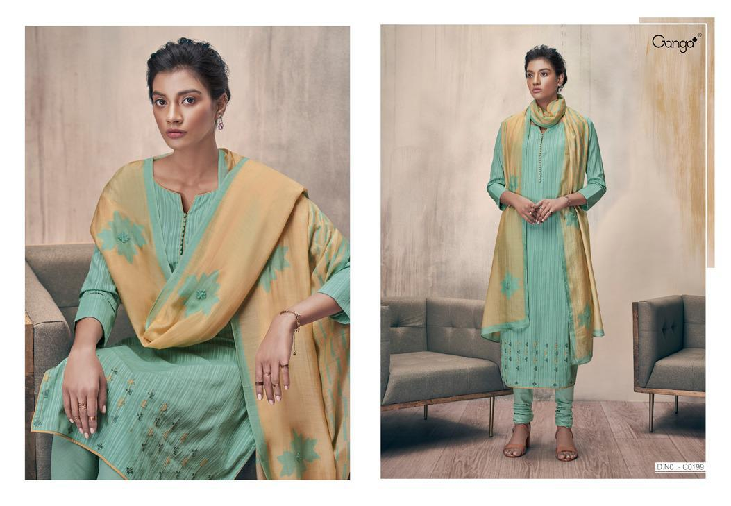 Ganga Zella Salwar Suit Wholesale Catalog 9 Pcs 1 - Ganga Zella Salwar Suit Wholesale Catalog 9 Pcs