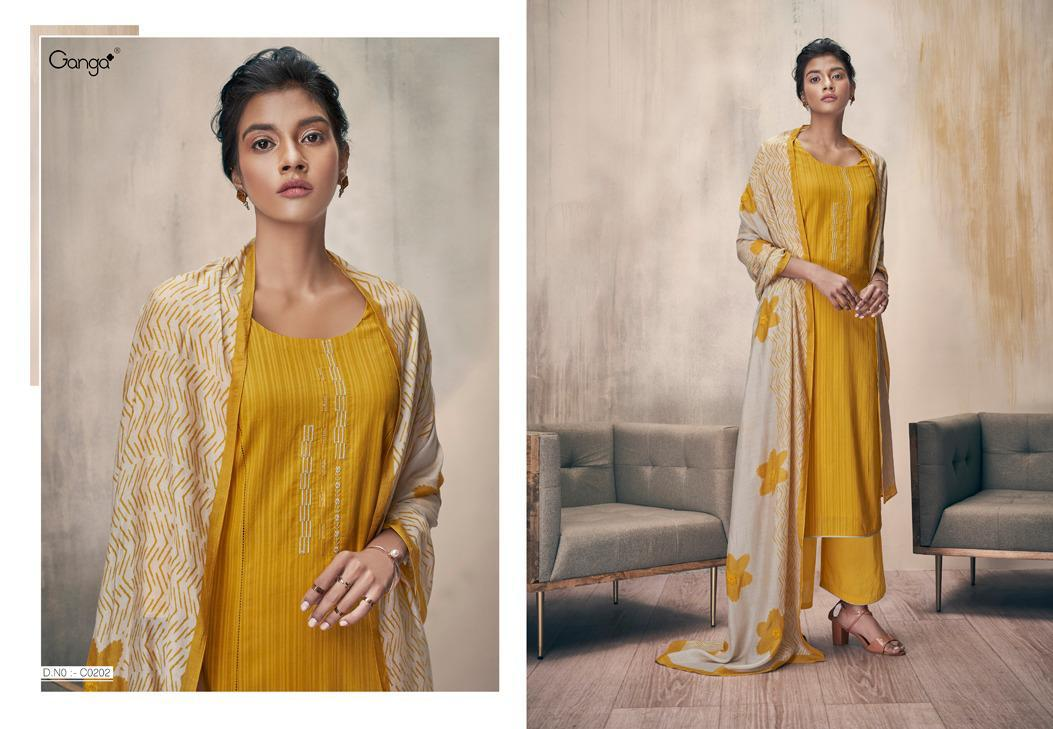 Ganga Zella Salwar Suit Wholesale Catalog 9 Pcs 6 - Ganga Zella Salwar Suit Wholesale Catalog 9 Pcs