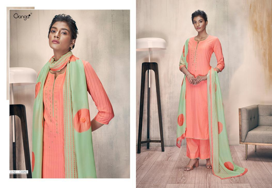 Ganga Zella Salwar Suit Wholesale Catalog 9 Pcs 8 - Ganga Zella Salwar Suit Wholesale Catalog 9 Pcs