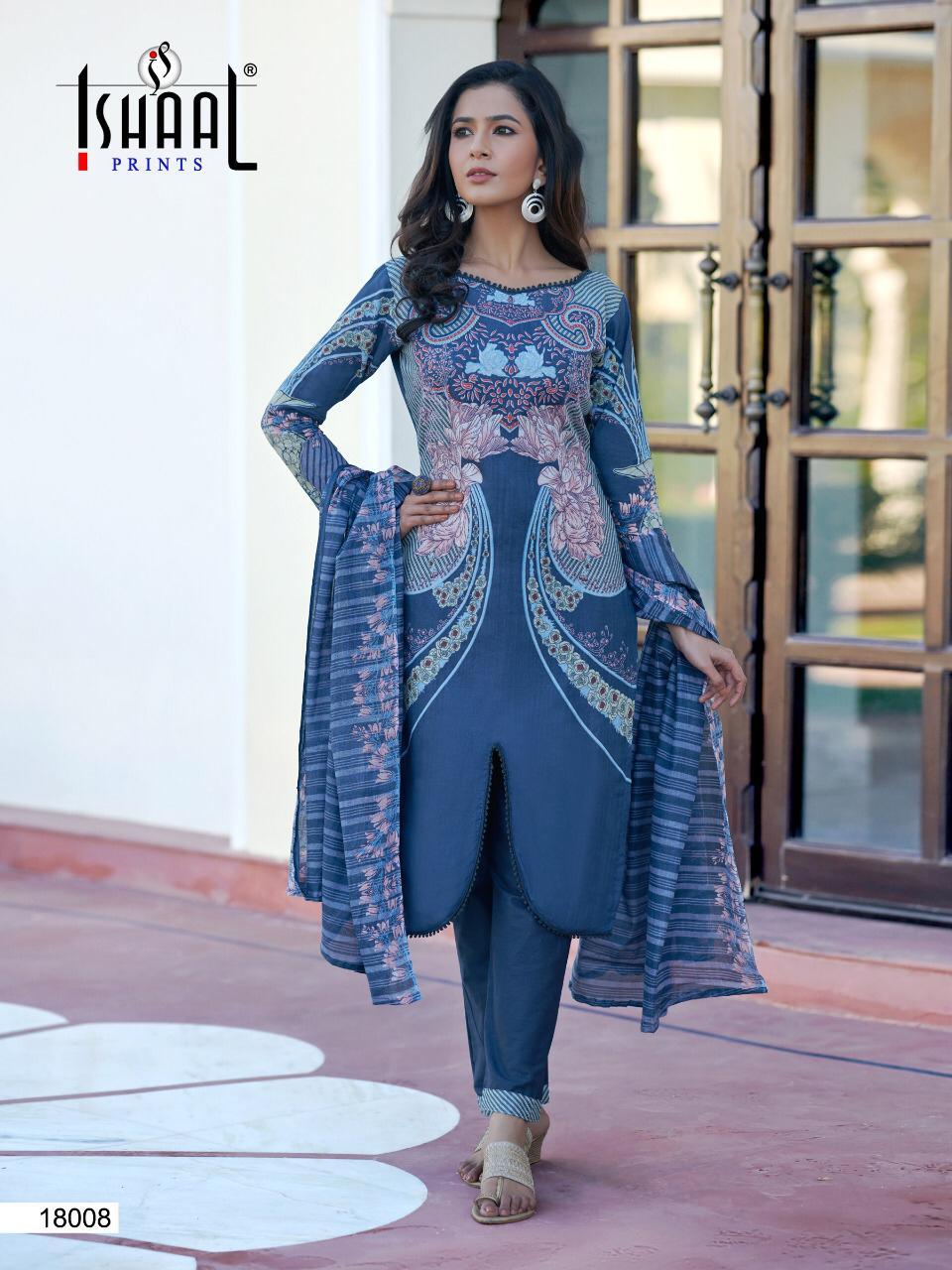 Ishaal Gulmohar Vol 18 Salwar Suit Wholesale Catalog 10 Pcs 5 - Ishaal Gulmohar Vol 18 Salwar Suit Wholesale Catalog 10 Pcs