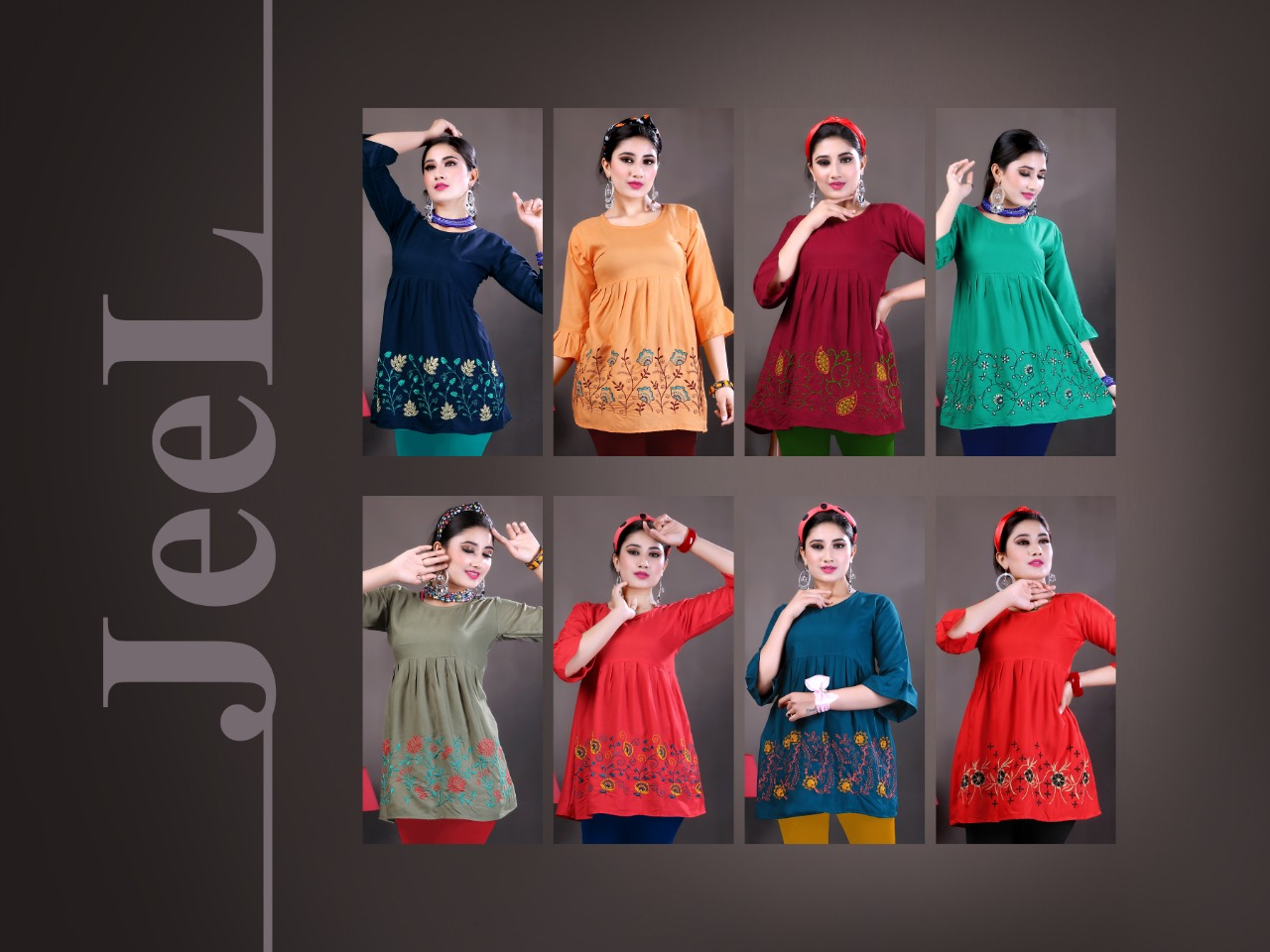Jeel Short Tops Wholesale Catalog 8 Pcs 10 - Jeel Short Tops Wholesale Catalog 8 Pcs