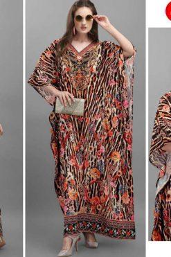 Jelite Afreen Kaftans Kurti Wholesale Catalog 8 Pcs