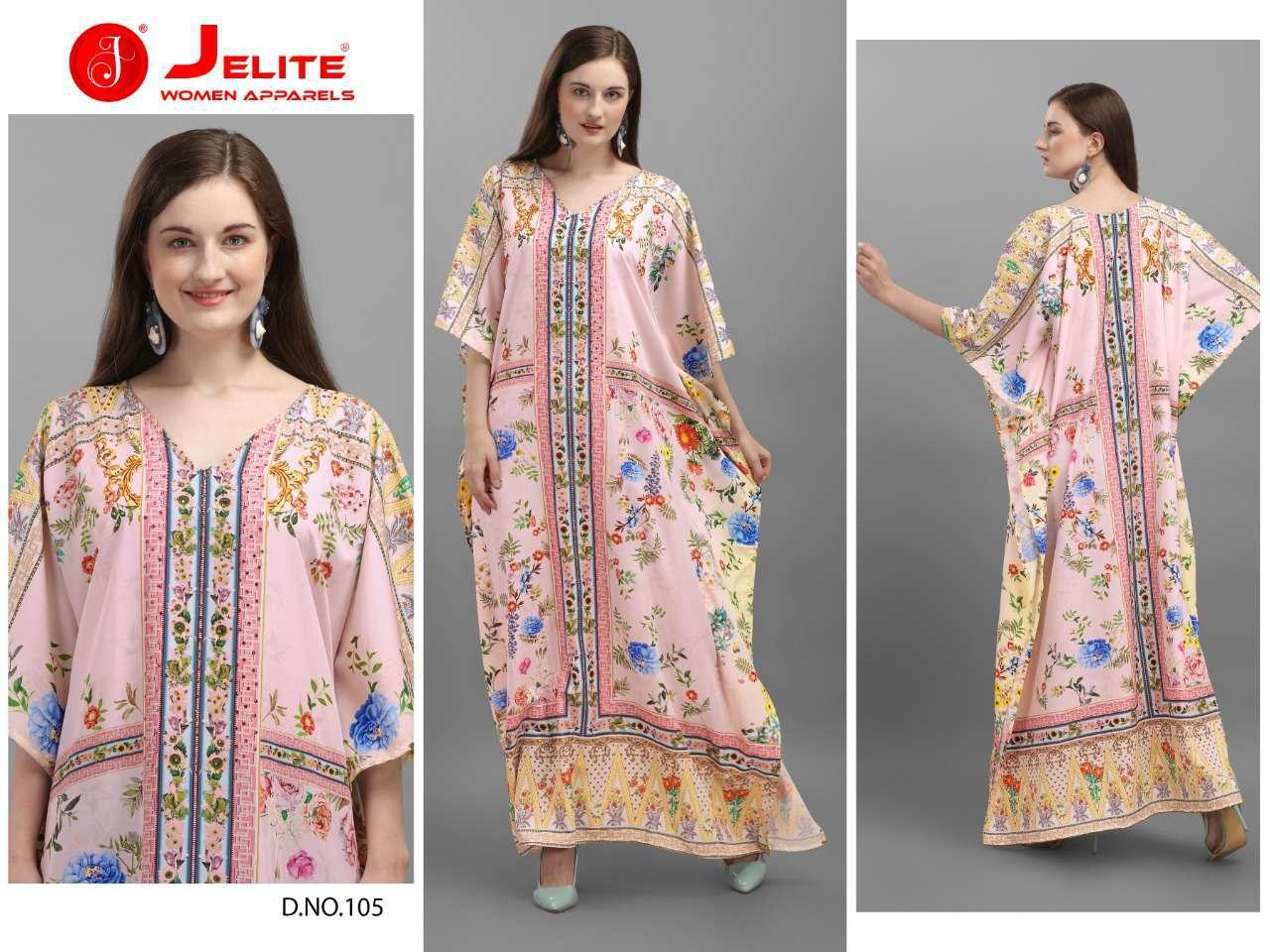 Jelite Afreen Kaftans Kurti Wholesale Catalog 8 Pcs 4 - Jelite Afreen Kaftans Kurti Wholesale Catalog 8 Pcs