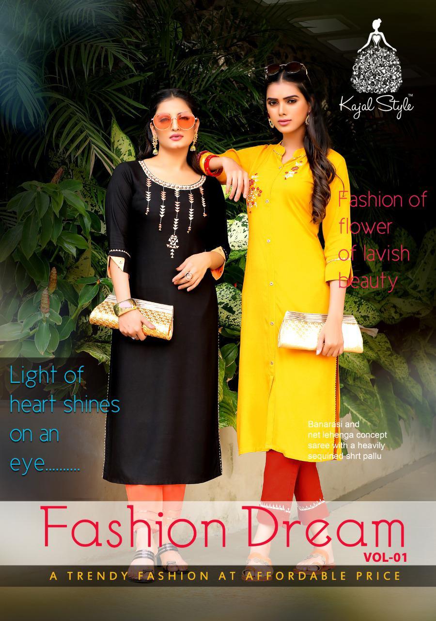 Kajal Style Fashion Dream Vol 1 Kurti with Pant Wholesale Catalog 8 Pcs 1 - Kajal Style Fashion Dream Vol 1 Kurti with Pant Wholesale Catalog 8 Pcs