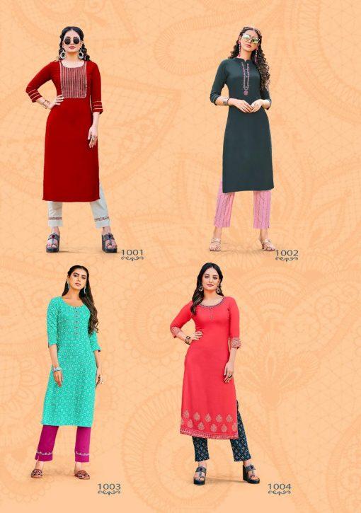 Kajal Style Fashion Dream Vol 1 Kurti with Pant Wholesale Catalog 8 Pcs 10 510x725 - Kajal Style Fashion Dream Vol 1 Kurti with Pant Wholesale Catalog 8 Pcs