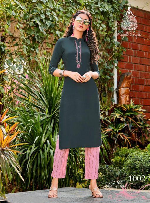Kajal Style Fashion Dream Vol 1 Kurti with Pant Wholesale Catalog 8 Pcs 3 510x692 - Kajal Style Fashion Dream Vol 1 Kurti with Pant Wholesale Catalog 8 Pcs
