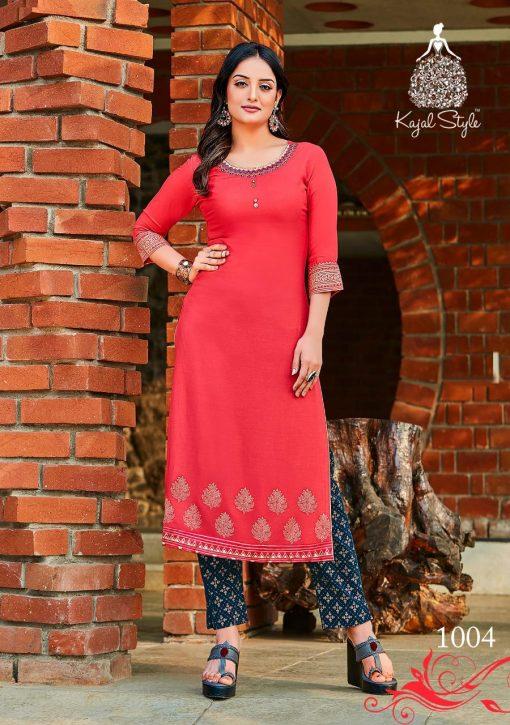 Kajal Style Fashion Dream Vol 1 Kurti with Pant Wholesale Catalog 8 Pcs 5 510x725 - Kajal Style Fashion Dream Vol 1 Kurti with Pant Wholesale Catalog 8 Pcs