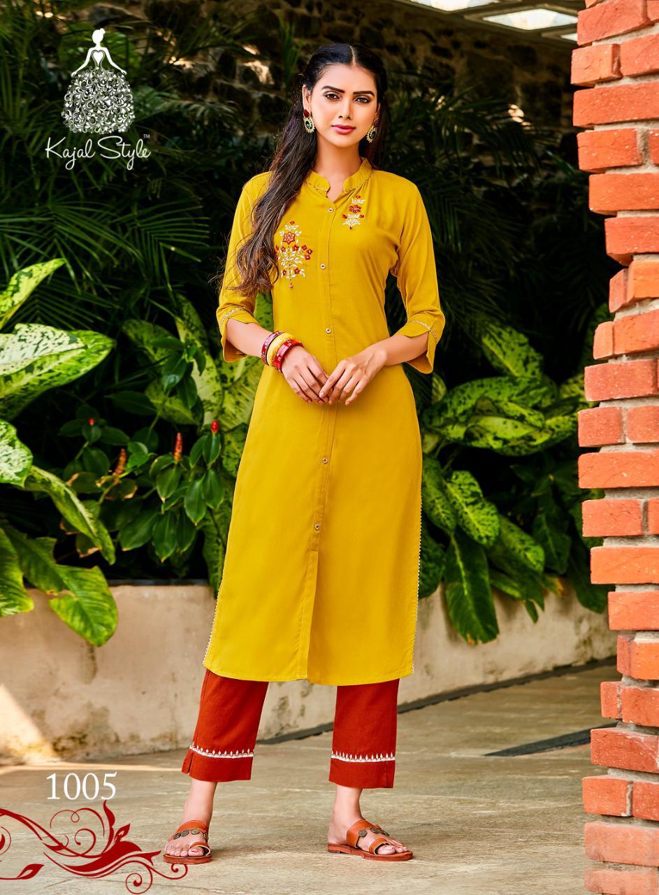 Kajal Style Fashion Dream Vol 1 Kurti with Pant Wholesale Catalog 8 Pcs 6 - Kajal Style Fashion Dream Vol 1 Kurti with Pant Wholesale Catalog 8 Pcs