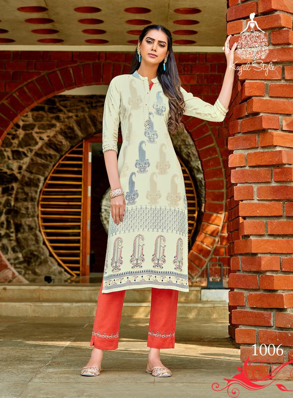 Kajal Style Fashion Dream Vol 1 Kurti with Pant Wholesale Catalog 8 Pcs 8 - Kajal Style Fashion Dream Vol 1 Kurti with Pant Wholesale Catalog 8 Pcs