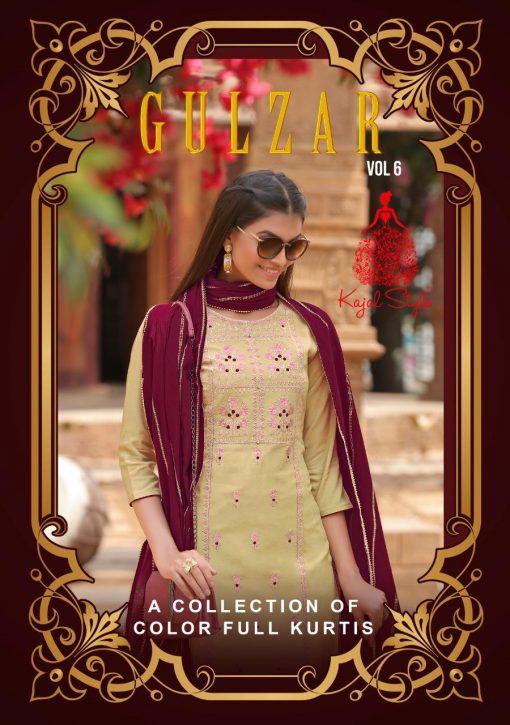 Kajal Style Gulzar Vol 6 Kurti with Dupatta Bottom Wholesale Catalog 8 Pcs 1 510x725 - Kajal Style Gulzar Vol 6 Kurti with Dupatta Bottom Wholesale Catalog 8 Pcs