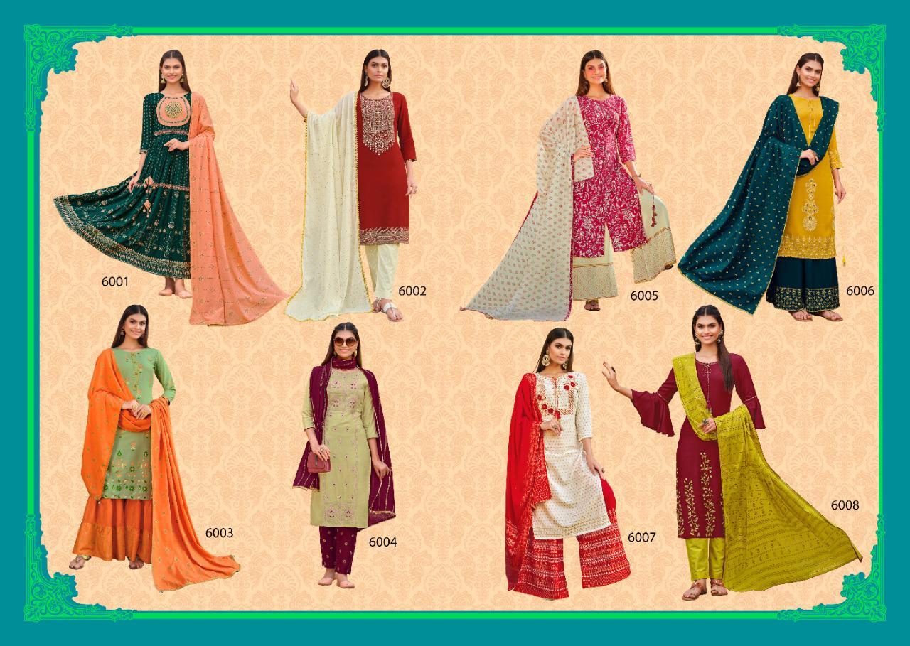 Kajal Style Gulzar Vol 6 Kurti with Dupatta Bottom Wholesale Catalog 8 Pcs 10 - Kajal Style Gulzar Vol 6 Kurti with Dupatta Bottom Wholesale Catalog 8 Pcs