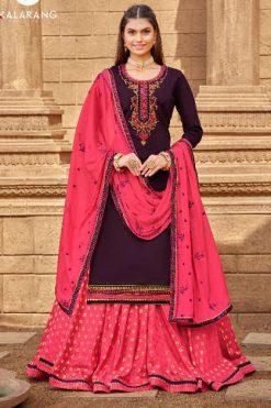 Kalarang Black Berry Vol 4 by Kessi Salwar Suit Wholesale Catalog 4 Pcs
