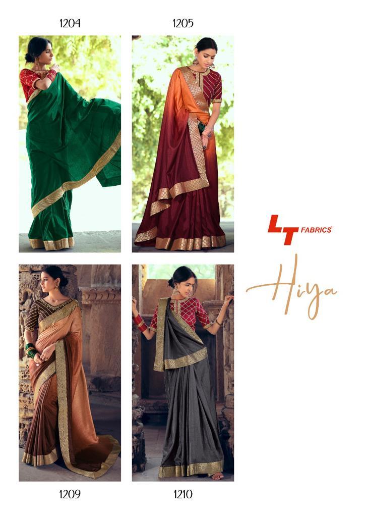 Kashvi Hiya by Lt Fabrics Saree Sari Wholesale Catalog 10 Pcs 25 - Kashvi Hiya by Lt Fabrics Saree Sari Wholesale Catalog 10 Pcs