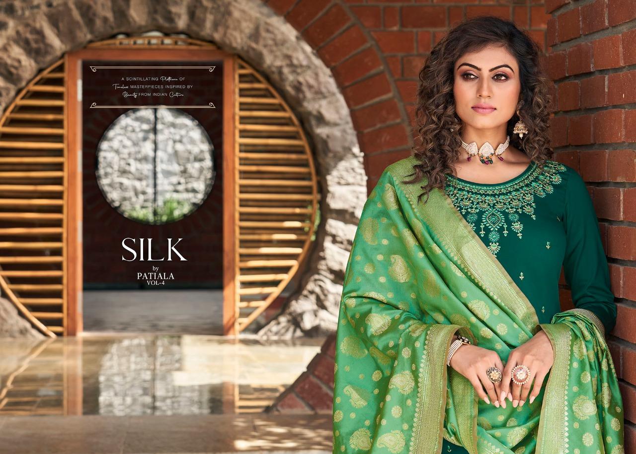 Kessi Silk by Patiala Vol 4 Salwar Suit Wholesale Catalog 8 Pcs 6 - Kessi Silk by Patiala Vol 4 Salwar Suit Wholesale Catalog 8 Pcs