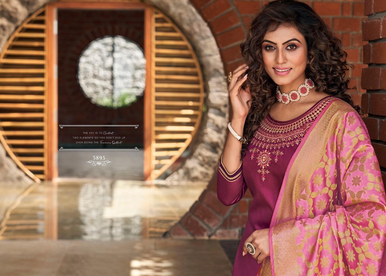 Kessi Silk by Patiala Vol 4 Salwar Suit Wholesale Catalog 8 Pcs 8 - Kessi Silk by Patiala Vol 4 Salwar Suit Wholesale Catalog 8 Pcs