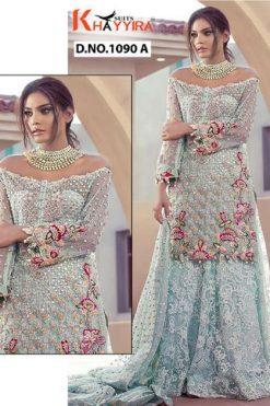 Khayyira Saira D No 1090 Salwar Suit Wholesale Catalog 4 Pcs