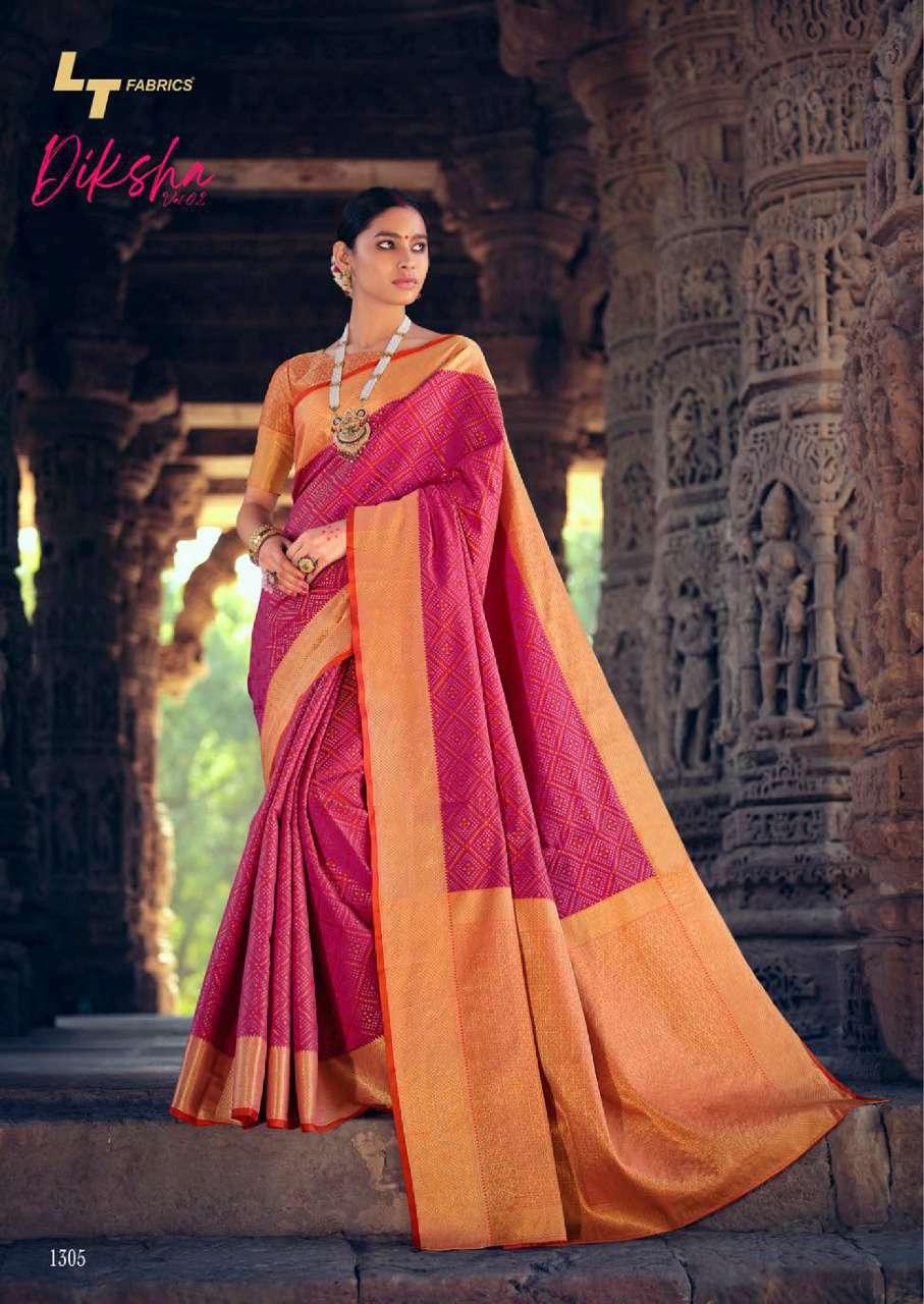 Lt Fabrics Diksha Vol 2 Saree Sari Wholesale Catalog 5 Pcs 10 - Lt Fabrics Diksha Vol 2 Saree Sari Wholesale Catalog 5 Pcs