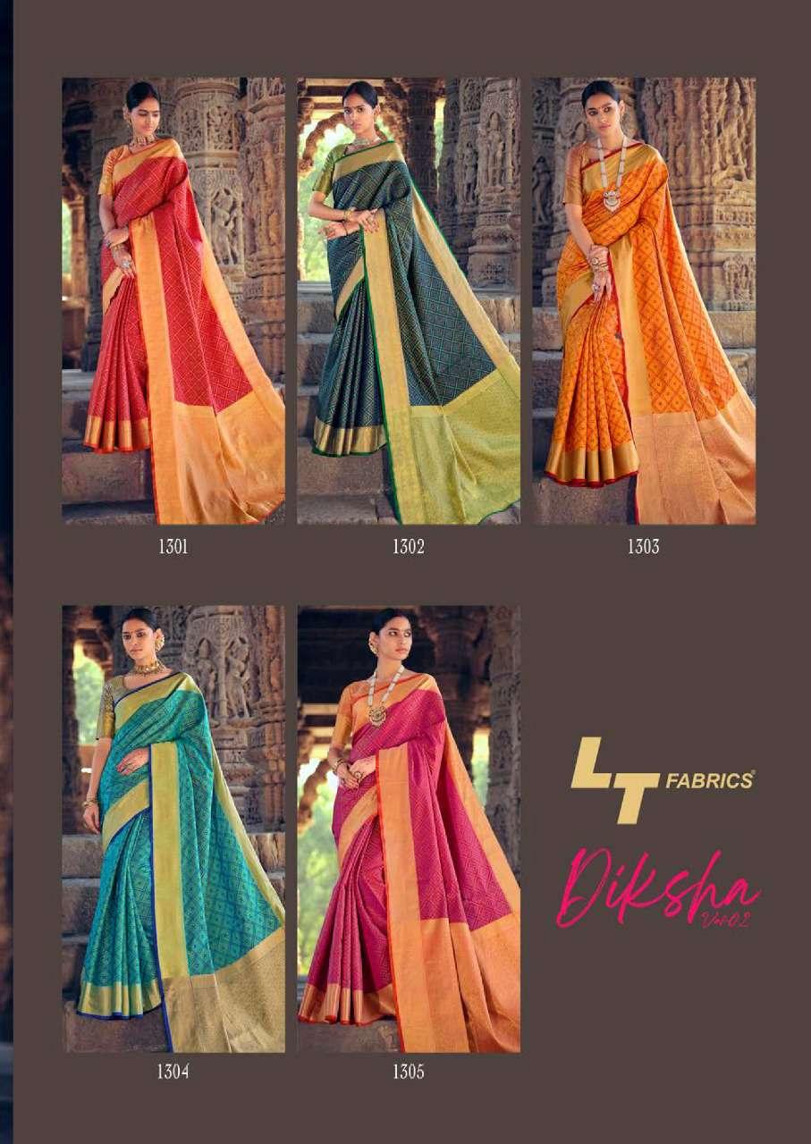 Lt Fabrics Diksha Vol 2 Saree Sari Wholesale Catalog 5 Pcs 13 - Lt Fabrics Diksha Vol 2 Saree Sari Wholesale Catalog 5 Pcs