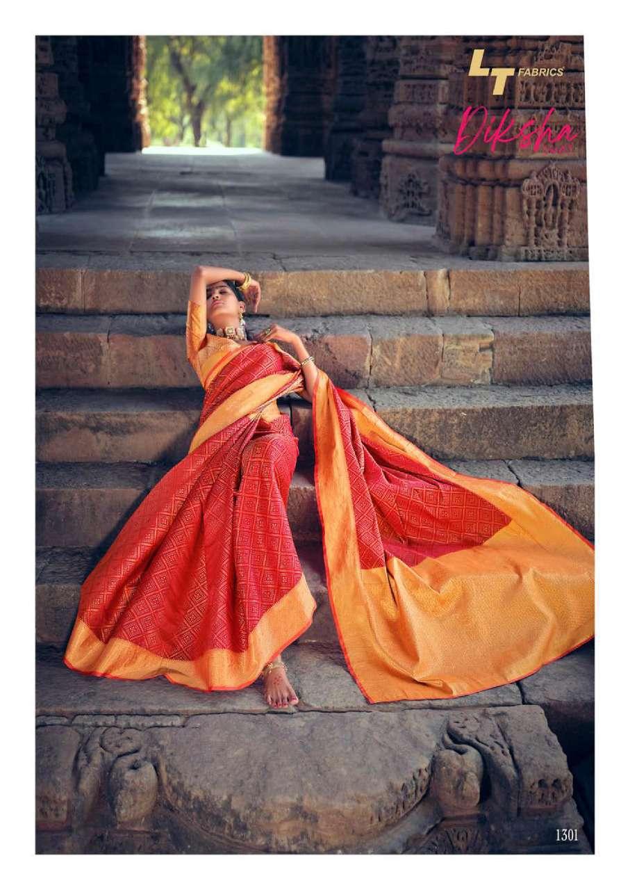 Lt Fabrics Diksha Vol 2 Saree Sari Wholesale Catalog 5 Pcs 2 - Lt Fabrics Diksha Vol 2 Saree Sari Wholesale Catalog 5 Pcs