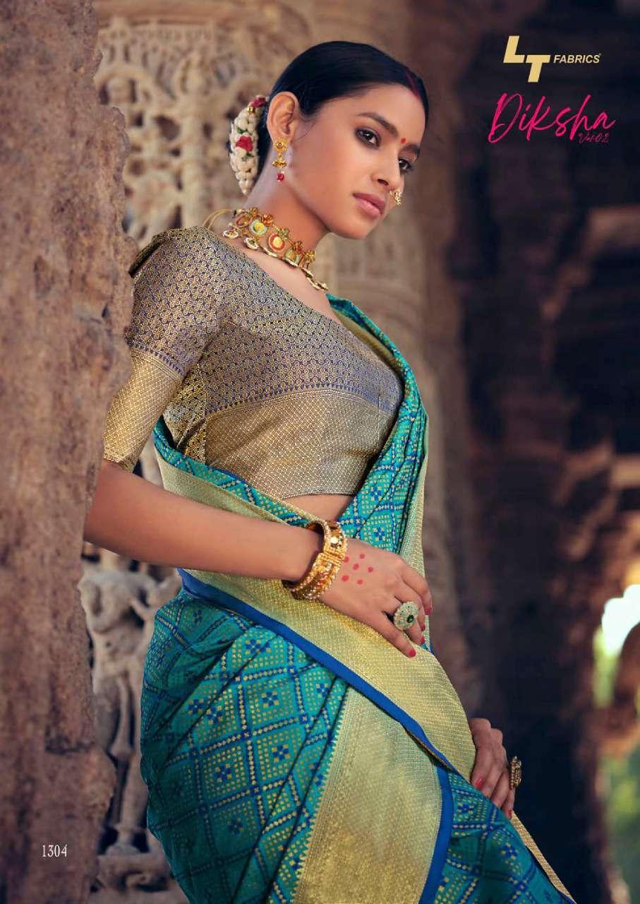Lt Fabrics Diksha Vol 2 Saree Sari Wholesale Catalog 5 Pcs 7 - Lt Fabrics Diksha Vol 2 Saree Sari Wholesale Catalog 5 Pcs