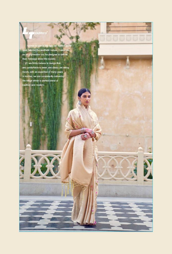Lt Fabrics Sunehri Saree Sari Wholesale Catalog 10 Pcs 10 - Lt Fabrics Sunehri Saree Sari Wholesale Catalog 10 Pcs