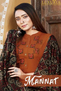 Luxuria Mannat Kurti with Dupatta Wholesale Catalog 4 Pcs