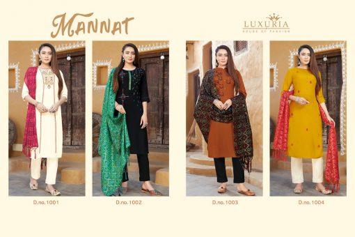 Luxuria Mannat Kurti with Dupatta Wholesale Catalog 4 Pcs 5 510x340 - Luxuria Mannat Kurti with Dupatta Wholesale Catalog 4 Pcs