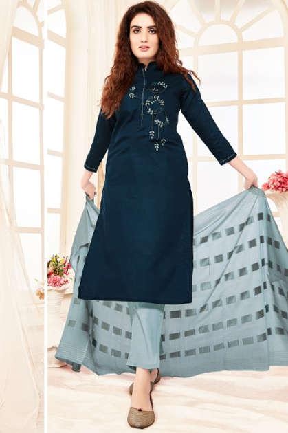 Manya Sunshine Kurti with Dupatta Bottom Wholesale Catalog 6 Pcs