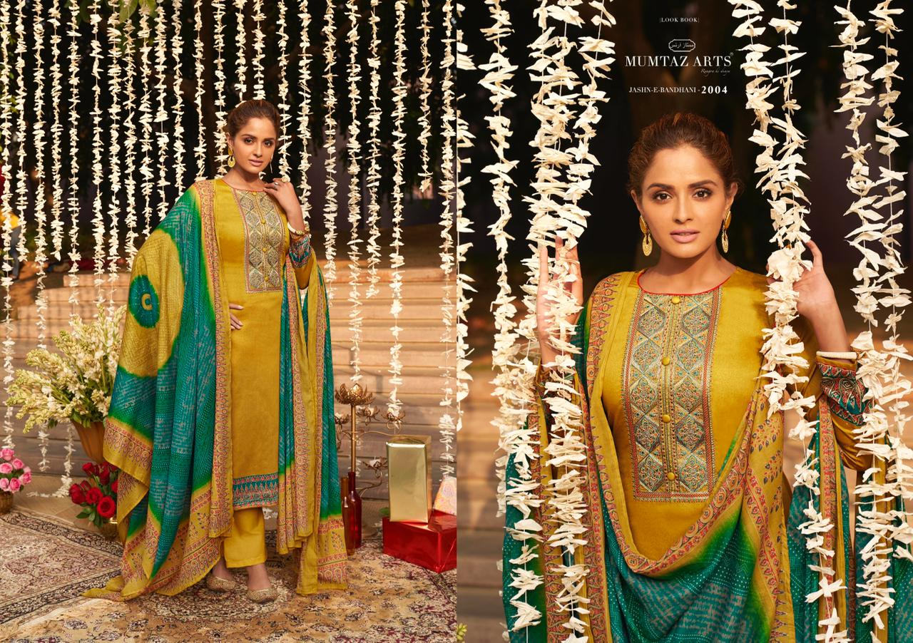 Mumtaz Arts Jashn E Bandhani Hit List Salwar Suit Wholesale Catalog 6 Pcs 5 - Mumtaz Arts Jashn E Bandhani Hit List Salwar Suit Wholesale Catalog 6 Pcs