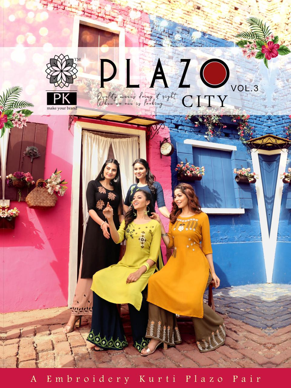 Pk Plazo City Vol 3 Kurti with Palazzo Wholesale Catalog 12 Pcs 1 - Pk Plazo City Vol 3 Kurti with Palazzo Wholesale Catalog 12 Pcs