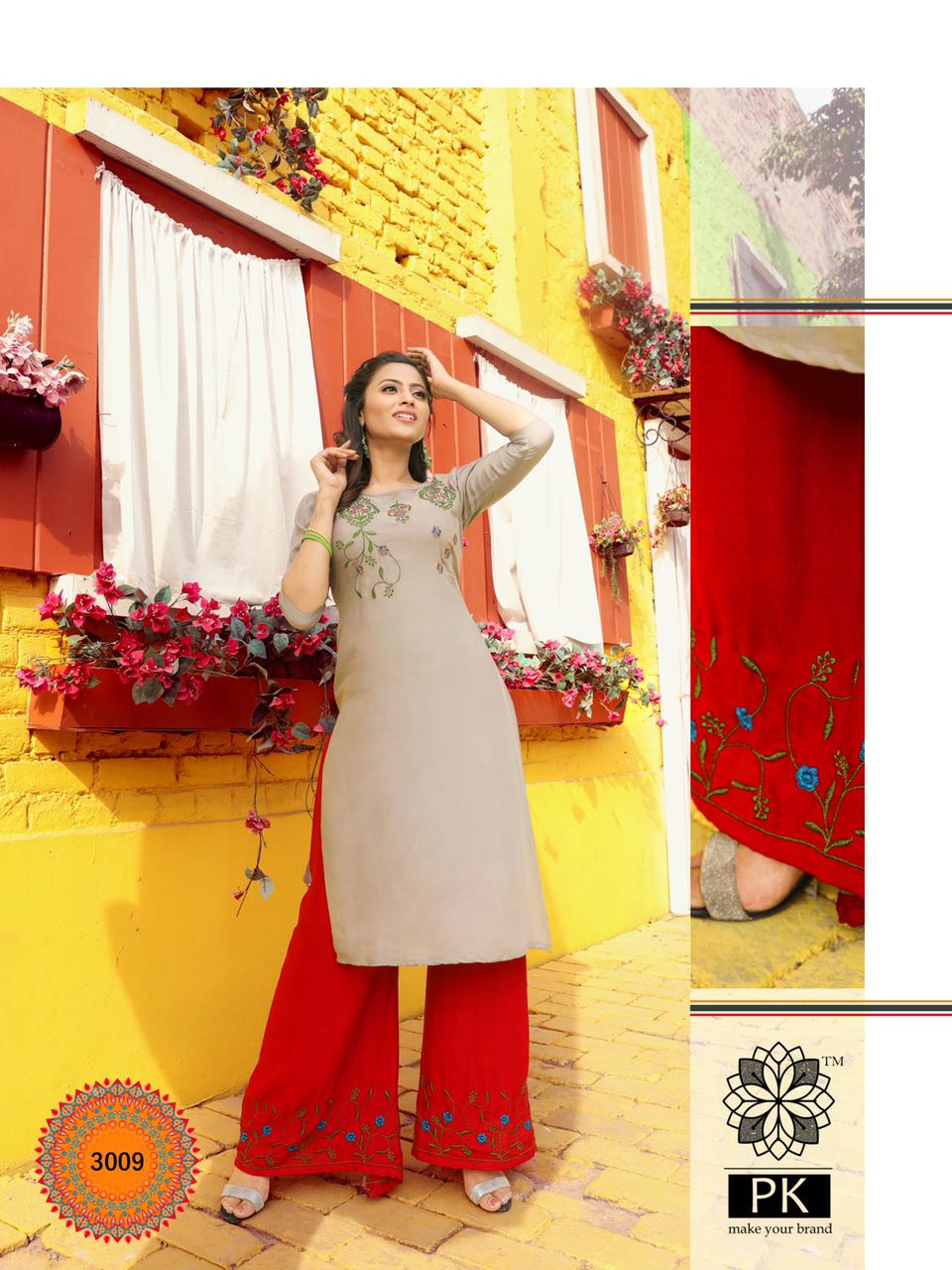 Pk Plazo City Vol 3 Kurti with Palazzo Wholesale Catalog 12 Pcs 11 - Pk Plazo City Vol 3 Kurti with Palazzo Wholesale Catalog 12 Pcs