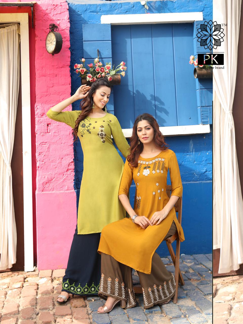 Pk Plazo City Vol 3 Kurti with Palazzo Wholesale Catalog 12 Pcs 15 - Pk Plazo City Vol 3 Kurti with Palazzo Wholesale Catalog 12 Pcs