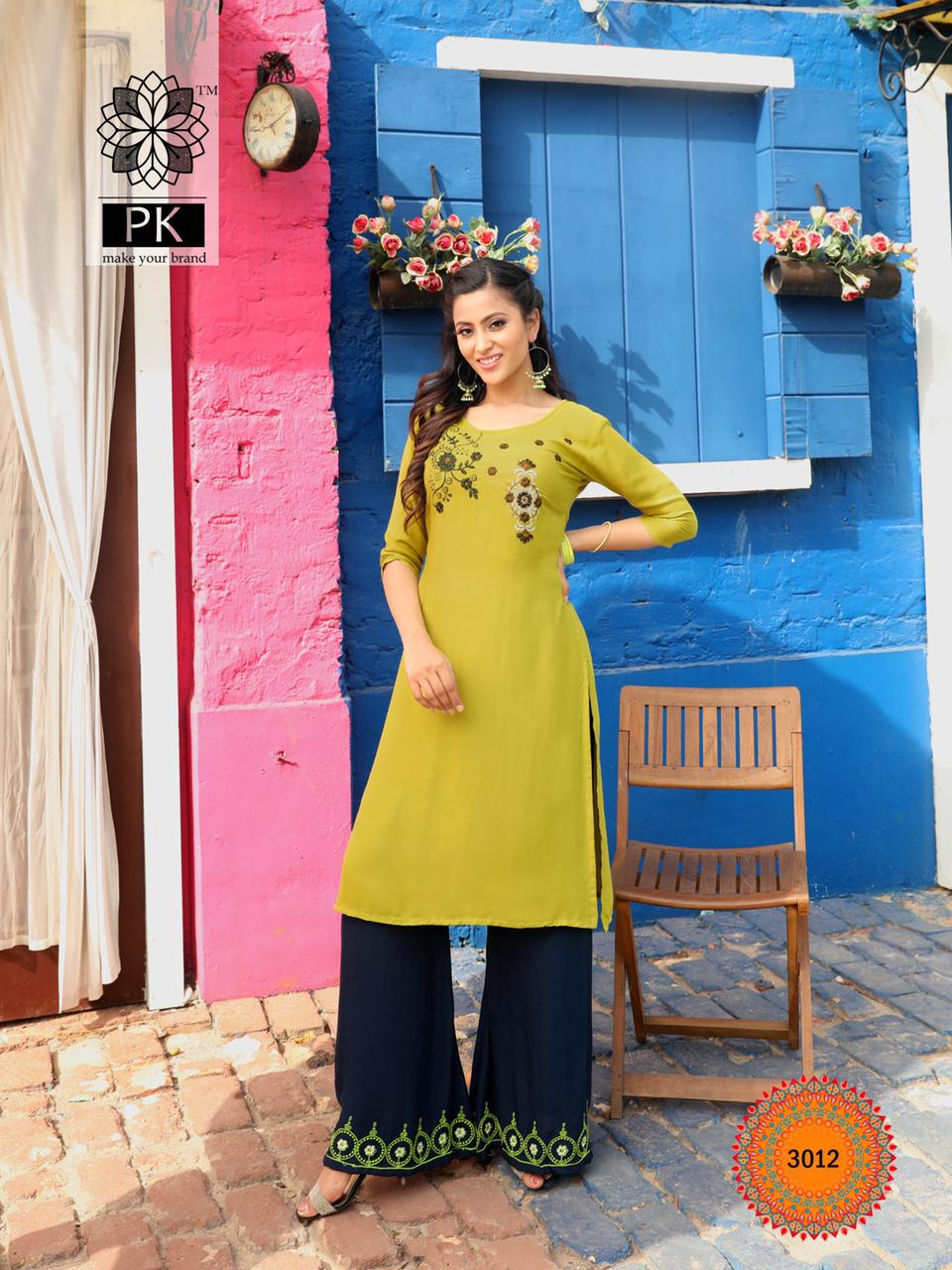 Pk Plazo City Vol 3 Kurti with Palazzo Wholesale Catalog 12 Pcs 16 - Pk Plazo City Vol 3 Kurti with Palazzo Wholesale Catalog 12 Pcs