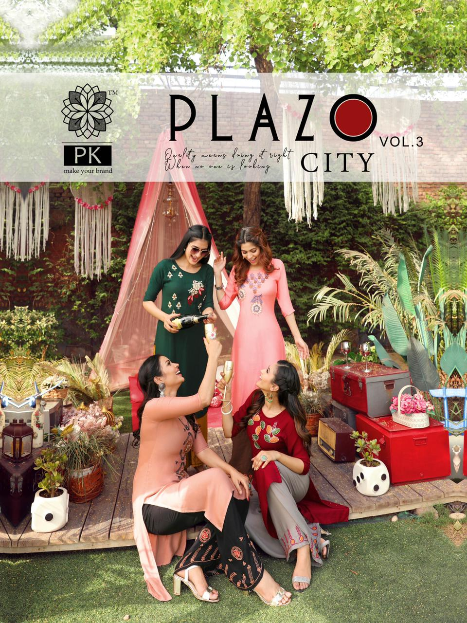 Pk Plazo City Vol 3 Kurti with Palazzo Wholesale Catalog 12 Pcs 17 - Pk Plazo City Vol 3 Kurti with Palazzo Wholesale Catalog 12 Pcs