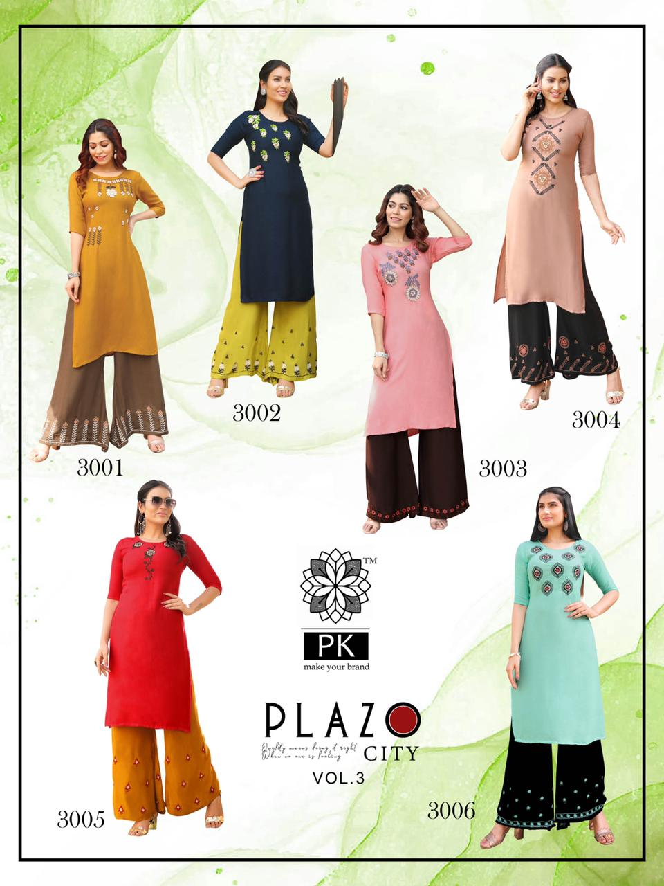 Pk Plazo City Vol 3 Kurti with Palazzo Wholesale Catalog 12 Pcs 18 - Pk Plazo City Vol 3 Kurti with Palazzo Wholesale Catalog 12 Pcs