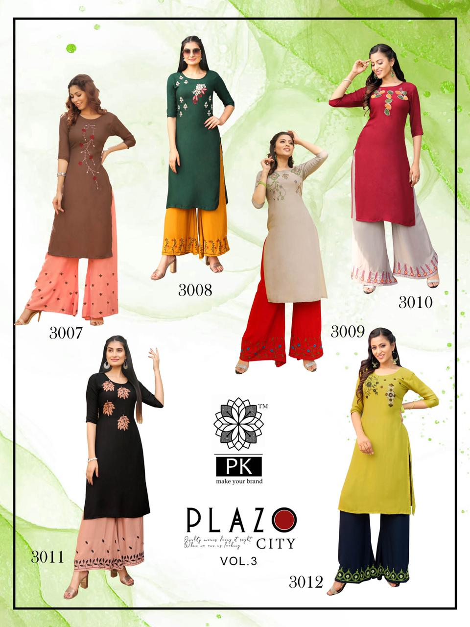 Pk Plazo City Vol 3 Kurti with Palazzo Wholesale Catalog 12 Pcs 19 - Pk Plazo City Vol 3 Kurti with Palazzo Wholesale Catalog 12 Pcs