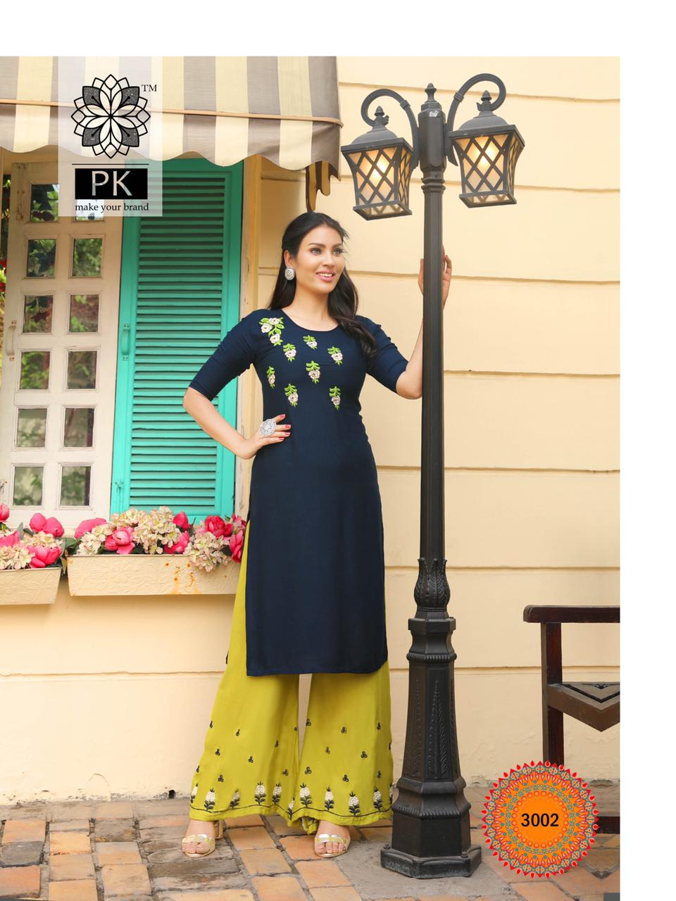 Pk Plazo City Vol 3 Kurti with Palazzo Wholesale Catalog 12 Pcs 2 - Pk Plazo City Vol 3 Kurti with Palazzo Wholesale Catalog 12 Pcs