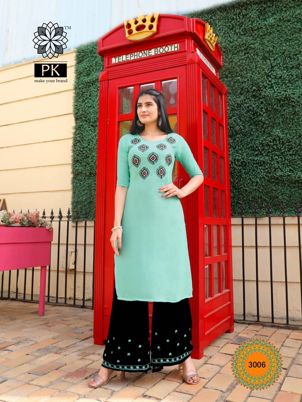 Pk Plazo City Vol 3 Kurti with Palazzo Wholesale Catalog 12 Pcs 6 - Pk Plazo City Vol 3 Kurti with Palazzo Wholesale Catalog 12 Pcs