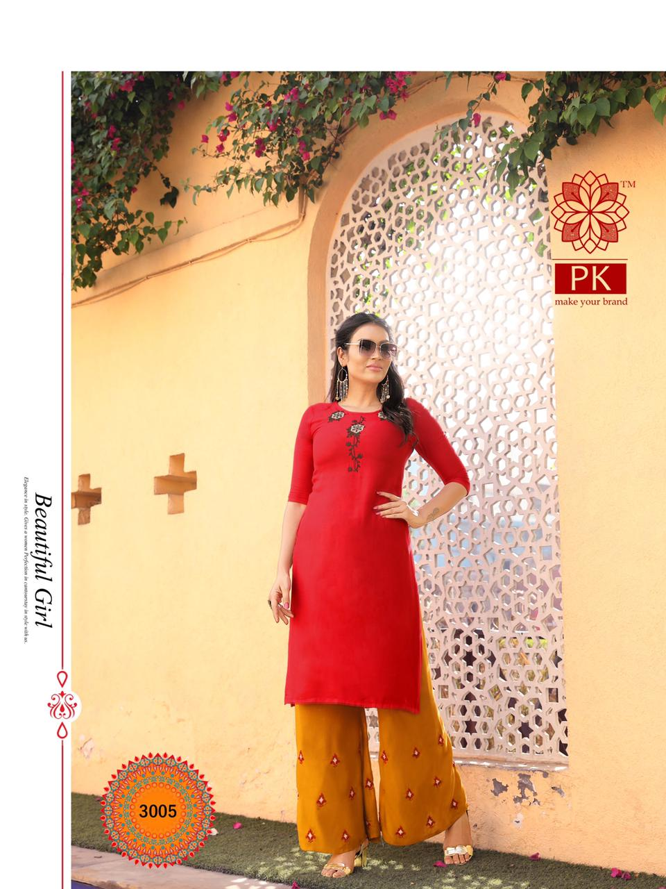 Pk Plazo City Vol 3 Kurti with Palazzo Wholesale Catalog 12 Pcs 8 - Pk Plazo City Vol 3 Kurti with Palazzo Wholesale Catalog 12 Pcs