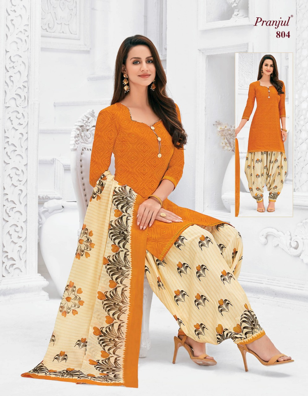 Pranjul Priyanka Vol 8 A Readymade Suit Wholesale Catalog 15 Pcs 1 - Pranjul Priyanka Vol 8 A Readymade Suit Wholesale Catalog 15 Pcs