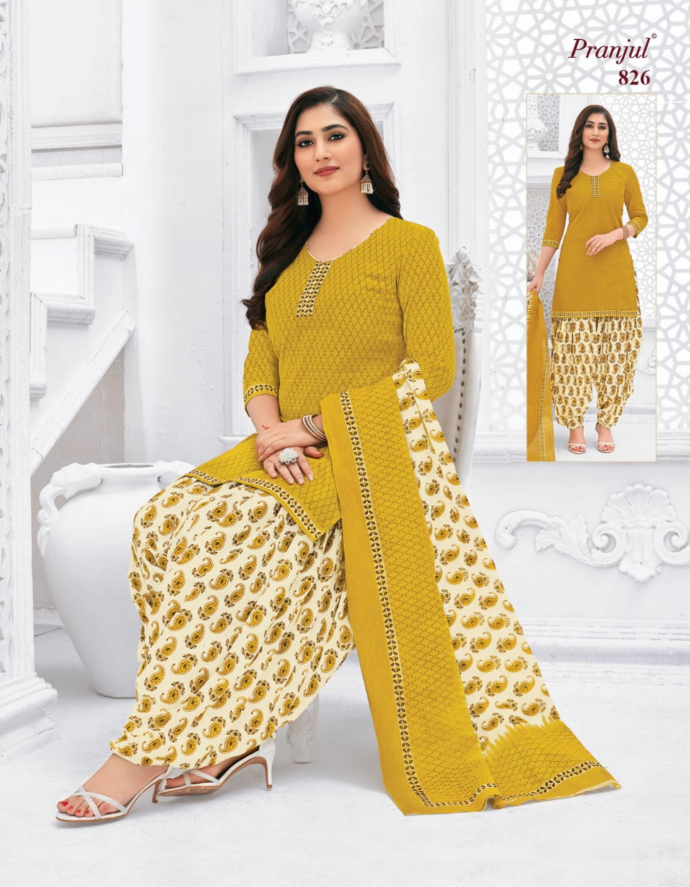Pranjul Priyanka Vol 8 A Readymade Suit Wholesale Catalog 15 Pcs 13 - Pranjul Priyanka Vol 8 A Readymade Suit Wholesale Catalog 15 Pcs