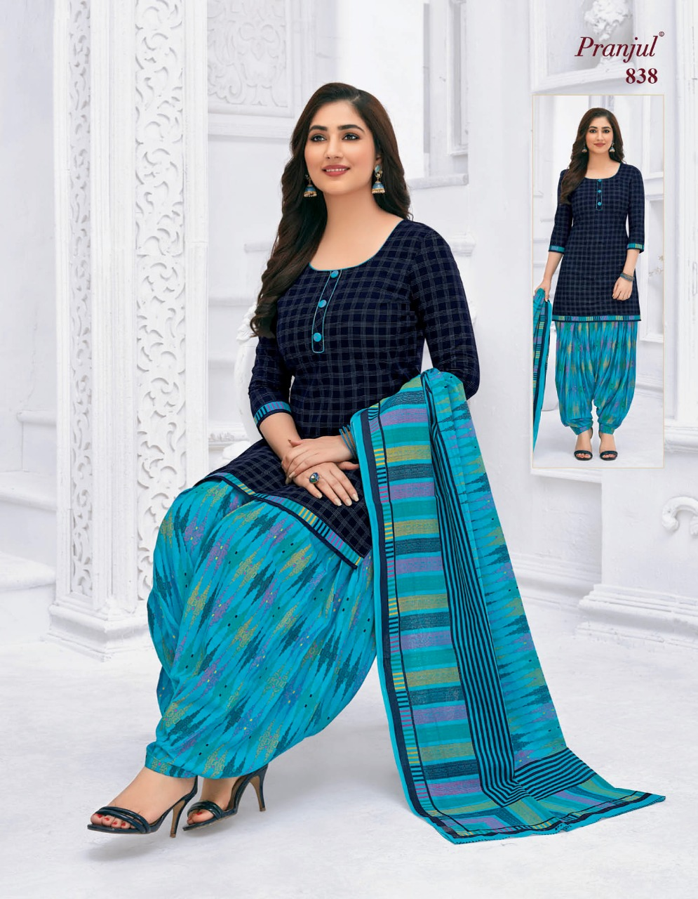Pranjul Priyanka Vol 8 A Readymade Suit Wholesale Catalog 15 Pcs 18 - Pranjul Priyanka Vol 8 A Readymade Suit Wholesale Catalog 15 Pcs