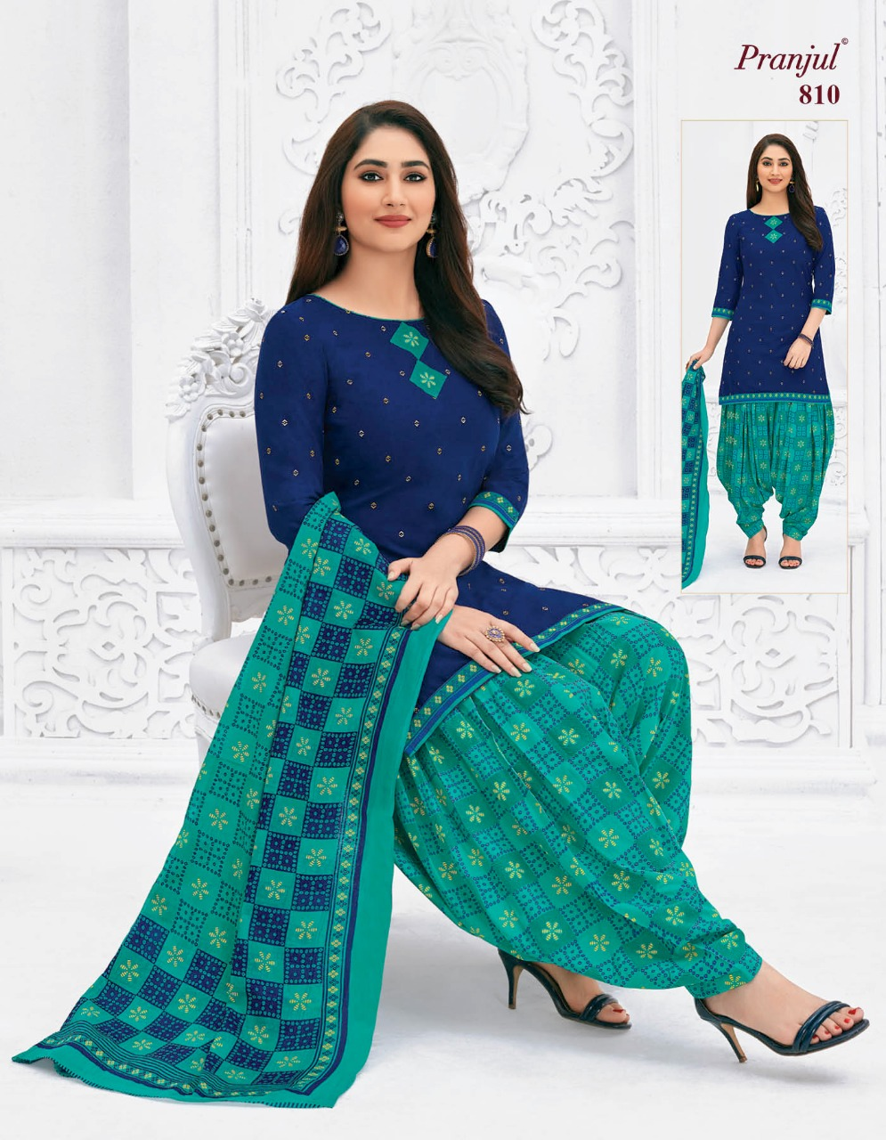 Pranjul Priyanka Vol 8 A Readymade Suit Wholesale Catalog 15 Pcs 5 - Pranjul Priyanka Vol 8 A Readymade Suit Wholesale Catalog 15 Pcs