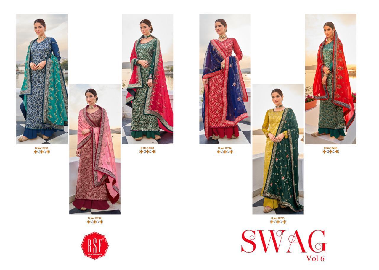 RSF Swag Vol 6 Salwar Suit Wholesale Catalog 6 Pcs 13 - RSF Swag Vol 6 Salwar Suit Wholesale Catalog 6 Pcs