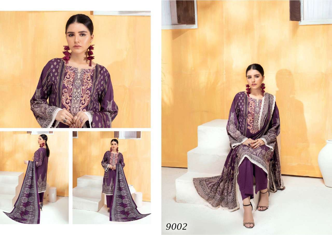 Sana Safinaz Luxury Lawn Colletion Vol 9 Salwar Suit Wholesale Catalog 8 Pcs 1 - Sana Safinaz Luxury Lawn Collection Vol 9 Salwar Suit Wholesale Catalog 8 Pcs