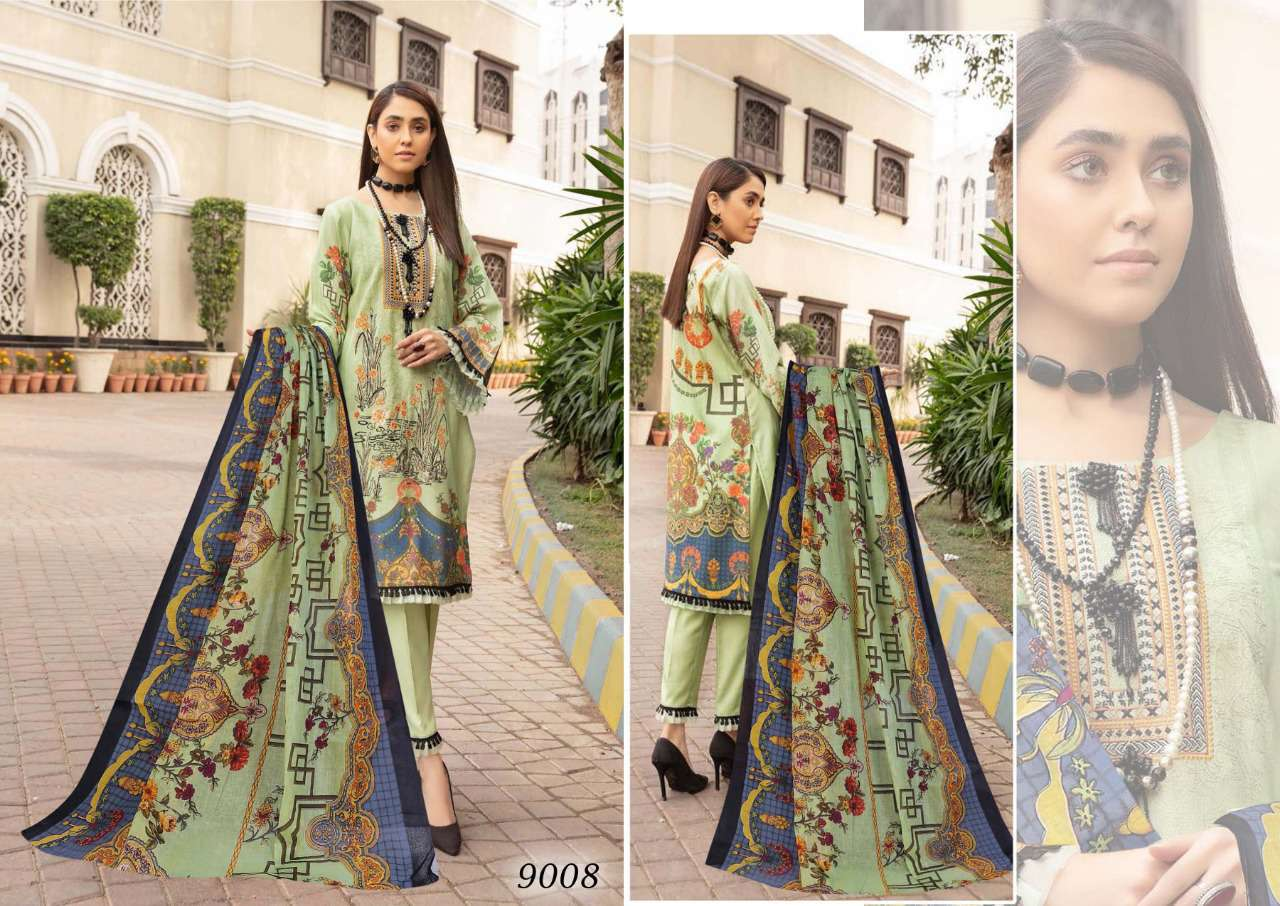 Sana Safinaz Luxury Lawn Colletion Vol 9 Salwar Suit Wholesale Catalog 8 Pcs 2 - Sana Safinaz Luxury Lawn Collection Vol 9 Salwar Suit Wholesale Catalog 8 Pcs