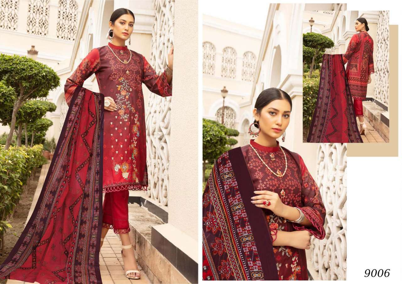 Sana Safinaz Luxury Lawn Colletion Vol 9 Salwar Suit Wholesale Catalog 8 Pcs 3 - Sana Safinaz Luxury Lawn Collection Vol 9 Salwar Suit Wholesale Catalog 8 Pcs