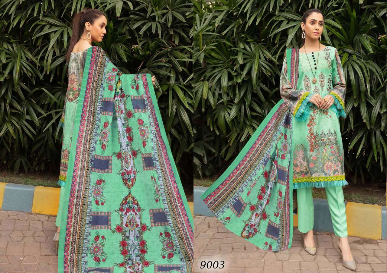 Sana Safinaz Luxury Lawn Colletion Vol 9 Salwar Suit Wholesale Catalog 8 Pcs 4 - Sana Safinaz Luxury Lawn Collection Vol 9 Salwar Suit Wholesale Catalog 8 Pcs