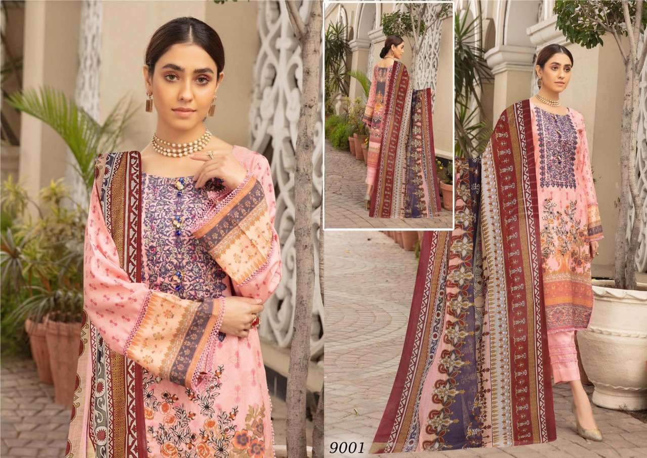 Sana Safinaz Luxury Lawn Colletion Vol 9 Salwar Suit Wholesale Catalog 8 Pcs 6 - Sana Safinaz Luxury Lawn Collection Vol 9 Salwar Suit Wholesale Catalog 8 Pcs