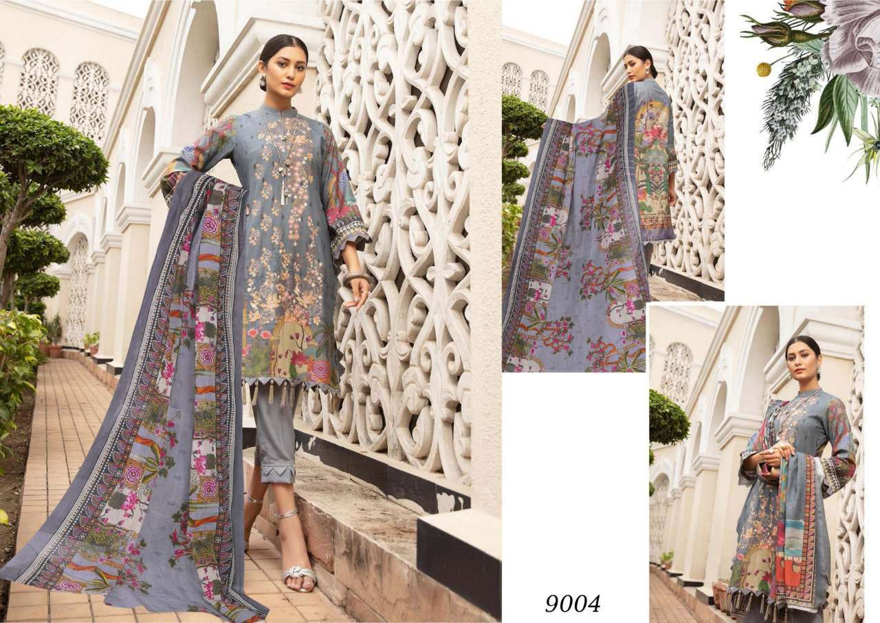 Sana Safinaz Luxury Lawn Colletion Vol 9 Salwar Suit Wholesale Catalog 8 Pcs 9 - Sana Safinaz Luxury Lawn Collection Vol 9 Salwar Suit Wholesale Catalog 8 Pcs